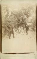 BELLE CARTE PHOTO D UNE PARTIE DE BOULES - PETANQUE - Pétanque