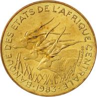 États De L'Afrique Centrale, 5 Francs, 1983, Paris, SPL+, Aluminum-Bronze, KM:7 - Monnaies