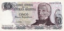 ARGENTINA 5 PESOS ARGENTINOS 1983 P-312a UNC SERIES A, SIGN: LOPEZ &  VAZQUEZ [ AR312a2 ] - Argentine