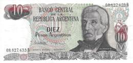 ARGENTINA 10 PESOS ARGENTINOS 1983 P-313a UNC SERIES B, SIGN: LOPEZ &  VAZQUEZ [ AR313a2 ] - Argentine