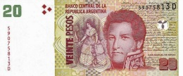 ARGENTINA 20 PESOS ND (2013) P-355a UNC SERIES D, SIGN: PONT &  COBOS [ AR355a4 ] - Argentina