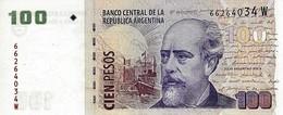 ARGENTINA 100 PESOS ND (2012) P-357e UNC SERIES W, SIGN: PONT &  BOUDOU [ AR357e45 ] - Argentine