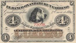 ARGENTINA 4 REALES BOLIVIANOS 1869 P-S1781r UNC BANCO OXANDABURU Y GARBINO [ ARS1781r ] - Argentina