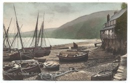 CPA Précurseur - CLOVELLY, CRAZED KATE'S COTTAGE AND BEACH - Devon, Angleterre - - Clovelly