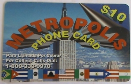 USA -  IDT METROPOLIS Prepaid Card , $10, Used - Vereinigte Staaten