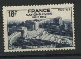 FRANCE -  ONU À PARIS - N° Yvert  819** - France