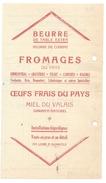 F22 - Facture Laiterie Des Producteurs De Lait Sierre Et Environs E. Guidoux Laitier 25.10.1927 - Switzerland