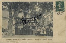 Domine, Commune De Naintré : La Moderne Au Restaurant Braguier ( 2 Scan Avec Cachet Restaurant ) - Unclassified