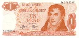 ARGENTINA 1 PESO 1971 P-287a UNC SERIES C, SIGN: MANCINI &  BRIGNONE [ AR287a3 ] - Argentine