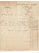 F31 - Rechnung Louis Tonossi Siders Handlung Spezerein Mercerie 22.06.1927 - Switzerland