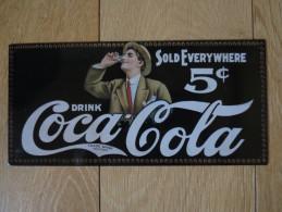 Plaque Publicitaire  Coca - Cola Drink 5c - Posters