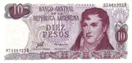 ARGENTINA 10 PESOS 1976 P-300a UNC SERIES D, SIGN: PORTA &  ZALDUENDO [ AR300a ] - Argentina