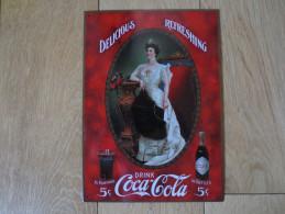 Plaque Publicitaire  Coca - Cola Drink 5c  - Delicious Refreshing - - Posters