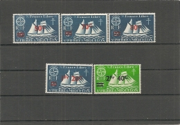 ST PIERRE - Yv. N°   315 à 319  *  Surchargés   Cote  2,6 Euro  BE - St.Pierre & Miquelon