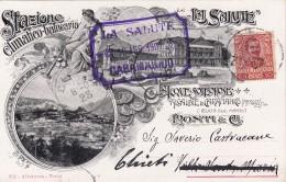 Caramanico Terme,cartolina Pubblicitaria Stazione Climatica La Salute. Viaggiata 1909 - Pescara