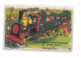 50 - AVRANCHES : Carte à Système,  Train - Avranches