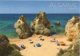 Belle Plage D'Armação De Pêra ALGARVE, Carte Postale Adressée ANDORRA, Avec Timbre à Date Arrivée - Faro