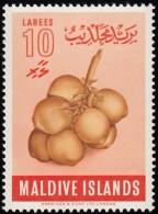 MALDIVE ISLANDS - Scott #72 Coconuts / Mint H Stamp - Maldives (...-1965)