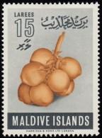MALDIVE ISLANDS - Scott #73 Coconuts / Mint H Stamp - Maldives (...-1965)