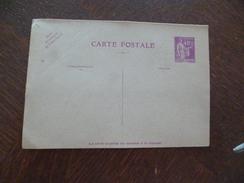Entier France Vierge Type Paix 40 C + 40 C Violet Carte Postale En Réponse Payée YT 281 CPRP1 Sans Date - Standard- Und TSC-AK (vor 1995)