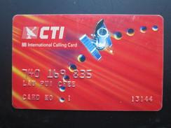 CTI International Calling Card,personal Account Card,used - Hong Kong