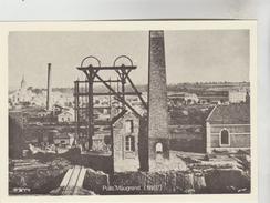 REPRODUCTION FORMAT CPSM METIERS DE LA MINE - HOUILLERES BLANZY MONTCEAU LES MINES (71) : Puits Maugrand 1867 - Mineral