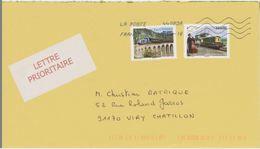 France Train Viaduc On Letter - Eisenbahnen