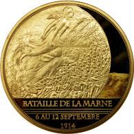 France, Medal, Centenaire De La Première Guerre Mondiale, Bataille De La Marne - France