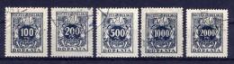 Polen Porto Nr.46/50                  O  Used               (898) - Postage Due