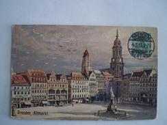 Dresden // Kustlerkarte // Altmarkt // 1913 - Dresden