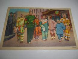 B661 Chinatown San Francisco Costumi Cm8,5x14 - Cartoline