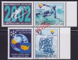 5073. Yugoslavia 2002 XIX Winter Olympics - Salt Lake City, Vignette-stamp, MNH (**) Michel 3058-3059 - 1992-2003 Federal Republic Of Yugoslavia
