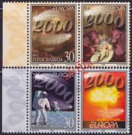 5074. Yugoslavia 2000 Europa CEPT, Stamp-vignette, MNH (**) Michel 2975-2976 - 1992-2003 Federal Republic Of Yugoslavia