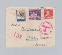 Schweden 1944-12-13 ZDAL Zensur Brief Nach Brütten B Winterthur - Suède