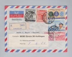 Pakistan 1966-05-30 KARACHI R-Brief Nach Zürich 30 Hottingen - Pakistan