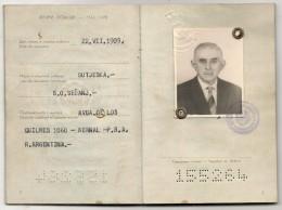 YOUGOSLAVIE - 1972 PASSPORT - PASSEPORT -  Issued In Buenos Aires - JEDNO Visa - Documentos Históricos