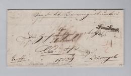 Ukraine LEMBERG Schriftsstempel Lwiw 1840-10-27 Vorphila Brief Nach Przemysl - Ukraine