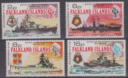 FALKLAND ISLANDS -  1974 Battleships. Scott 237-240. MNH - Falkland Islands