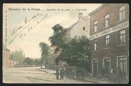 +++ CPA - Souvenir De LA HULPE - Quartier De La Gare - L'Arrivée - Hôtel Restaurant - Attelage - Vélos - Couleur 1902 // - La Hulpe