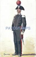 57764 ITALY ART SIGNED IPAGANINI COSTUMES MILITARY ARMY POSTAL POSTCARD - Non Classificati