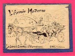 """SERIE DE 8 CPA, """"L'ARMEE MODERNE"""", DEVANT, ILLUSTRATION DE LOUIS MALESPINA. - Humour"""