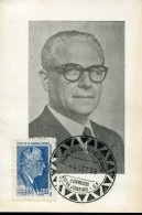 13533 Brasil,  Maximum  1958  Presidente Repubblica Giovanni Gronchi,  Republic President Gronchi - Cartes-Maximum (CM)