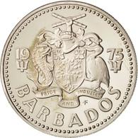 Barbados, 25 Cents, 1975, Franklin Mint, FDC, Copper-nickel, KM:13 - Barbades