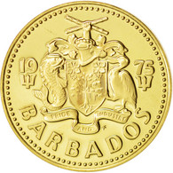 Barbados, 5 Cents, 1975, Franklin Mint, FDC, Brass, KM:11 - Barbades
