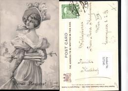 527245,Künstler AK Frau Mode Schirm Hut Hutmode Neujahrpub Tuck 1192 Jugendstil - Mode