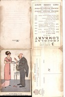 527263,seltene Reklame Klapp-AK Fabiano Chocolat Lombart Paris Humor Frau Mode - Werbepostkarten
