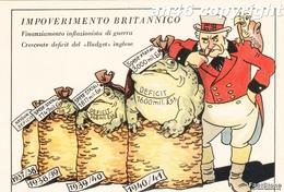 """PUBBLICITA'_ADVERTISING_WERBUNG_HUMOR""""IMPOVERIMENTO BRITANNICO-CRESCENTE DEFICIT DEL""""BUDGET""""INGLESE_OTTIMA CONSERVAZIONE - Pubblicitari"""