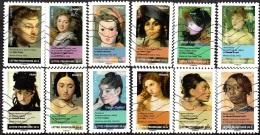 Oblitération Moderne Sur Adhésif De France N°  674 à 685 Art - Portraits De Femmes Dans La Peinture - Frankreich