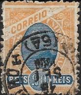 BRAZIL 1894 Sugar-loaf Mountain - 20r. - Blue And Orange  FU - Usados