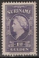 Suriname 1945 Wilhelmina 1,5 Gld.  NVPH 240 Ongestempeld/MH/* - Suriname ... - 1975